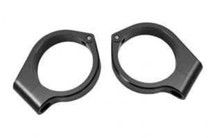 Custom Wrap Around 41mm Turn Signal Clamps. BLACK:
